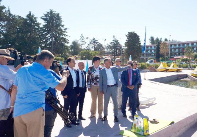 Ministar turizma Gari Cappelli u radnom posjetu Poreču – obišao novouređenu gradsku plažu Špadići-Materada, te investicije velikih hotelijerskih tvrtki