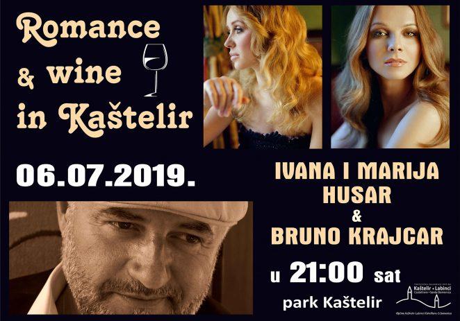"""U subotu, 6. srpnja nastavlja se """"Ljeto u Kašteliru"""" koncertom Bruna Krajcara i sestara Husar"""