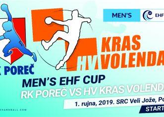 Porečki rukometaši ove nedjelje igraju protiv nizozemskog KRAS Volendam u prvom kolu EHF Cup-a