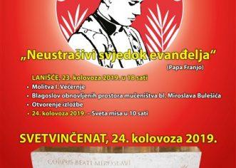 Obilježavanje 72. obljetnice mučeništva bl. Miroslava Bulešića