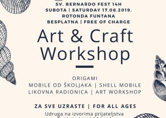 """Udruga za djecu i mlade """"Na izvorima prijateljstva"""" Funtana poziva na kreativne radionice u subotu, 17. kolovoza"""