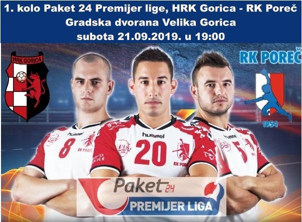 Rukometaši Poreča u subotu protiv HRK Gorica u Velikoj Gorici