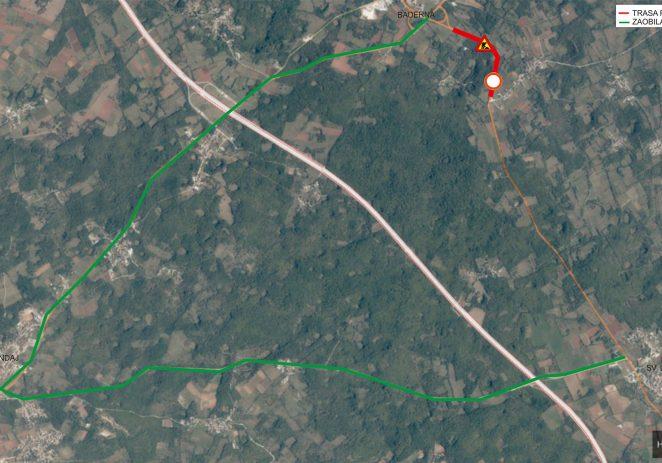 Od srijede, 25. rujna do početka studenog zatvorena cesta od Baderne prema Štifanići