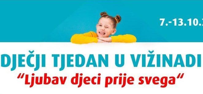 Obilježavanje dječjeg tjedna u Vižinadi