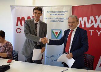 Potpisan sporazum o suradnji  trgovačkog centra Max City i Zavoda za javno zdravstvo Istarske županije