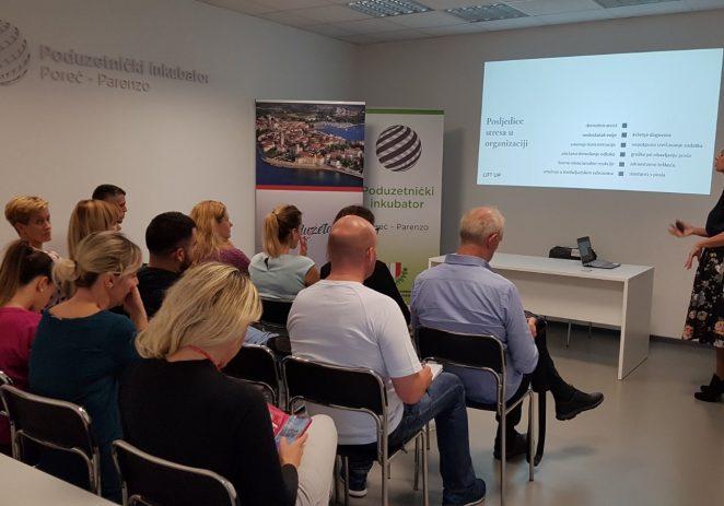 Sandra Mraović Deković (Lift up) održala edukaciju Stress free u sklopu programa Mjesec poduzetništva u Poreču