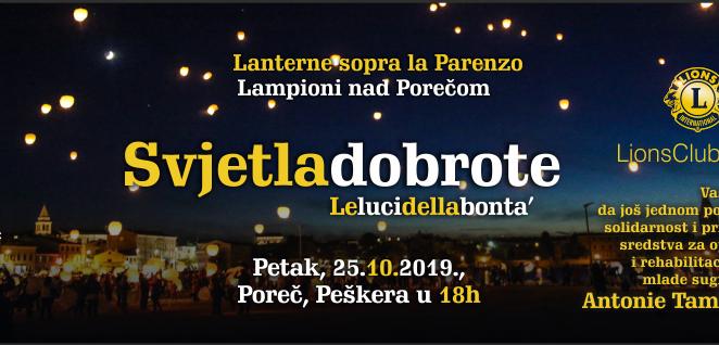 "U petak na Peškeri humanitarna akcija Lions cluba Poreč ""Lampioni nad Porečom"""