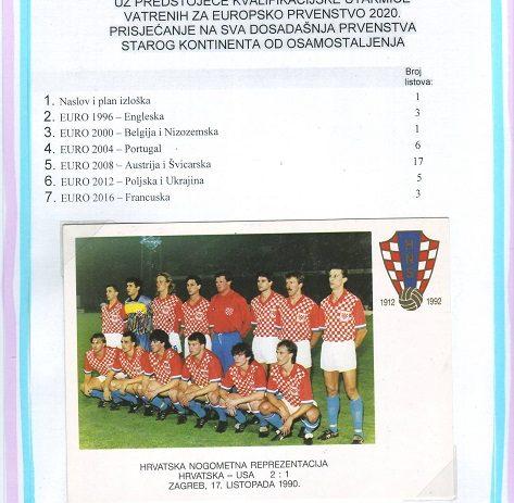 Filatelističko društvo «Poreč» postavilo je novu filatelističku izložbu na temu Hrvatske nogometne reprezentacije