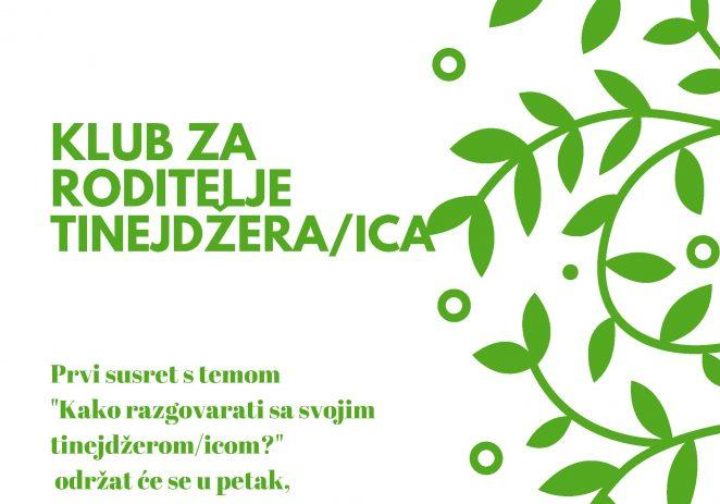 DND Poreč organizira Klub za roditelje tinejdžera/ica