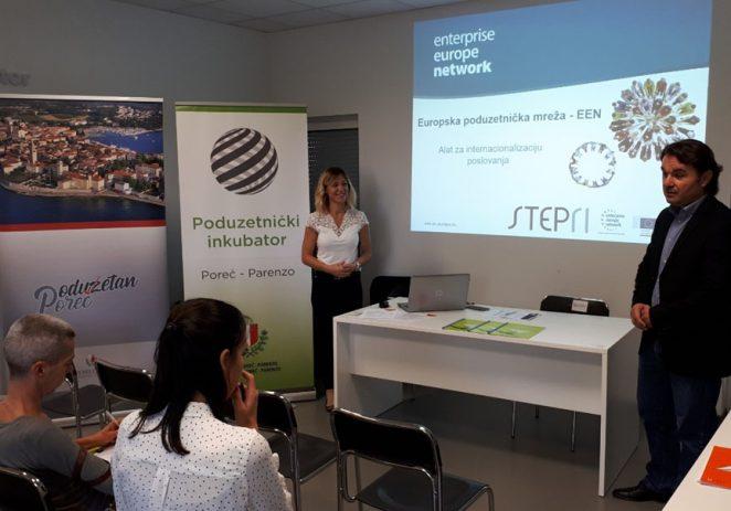 U Poduzetničkom inkubatoru Poreč održana prezentacija Europske poduzetničke mreže