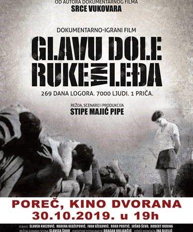 """Projekcijom filma """"Glavu dole, ruke na leđa"""" Poreč se pridružuje obilježavanju Dana sjećanja na žrtvu Vukovara"""