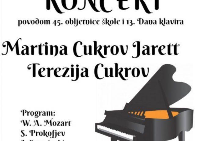Koncert Dua Martine Cukrov Jarett i Terezije Cukrov u utorak, 12. studenog
