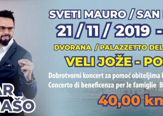 Danas počinje prodaja ulaznica za dobrotvorni koncert Petra Graše za obitelji Bašić i Tamburin