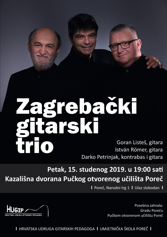 Veceras Koncert Zagrebackog Gitarskog Tria U Organizaciji