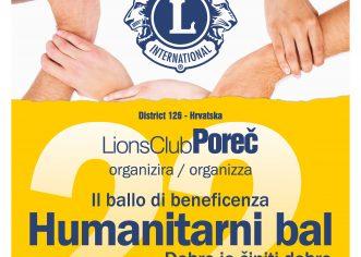 U subotu, 30. studenog tradicionalni Humanitarni bal Lions kluba Poreč