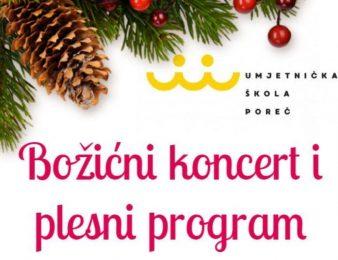U srijedu, 18. prosinca, Božićni koncert  Umjetničke škole Poreč