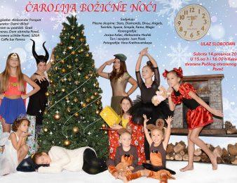 """Studio za izvedbene umjetnosti MOT 08 poziva Vas ove subote na predstavu """"Čarolija božićne noći"""" u porečko kazalište"""
