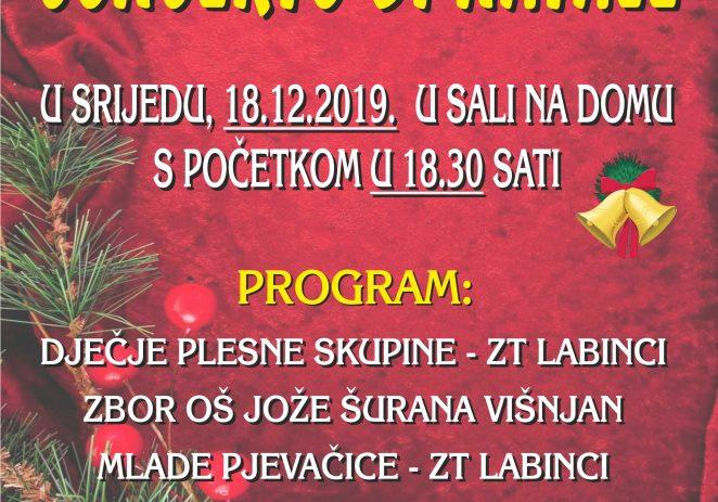 U srijedu tradicionalni Božićni koncert u Kašteliru