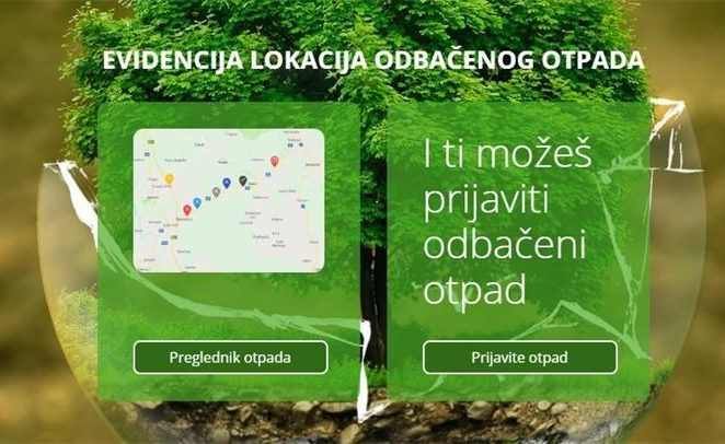 Od 1. siječnja možete prijaviti lokacije odbačenog otpada preko interneta
