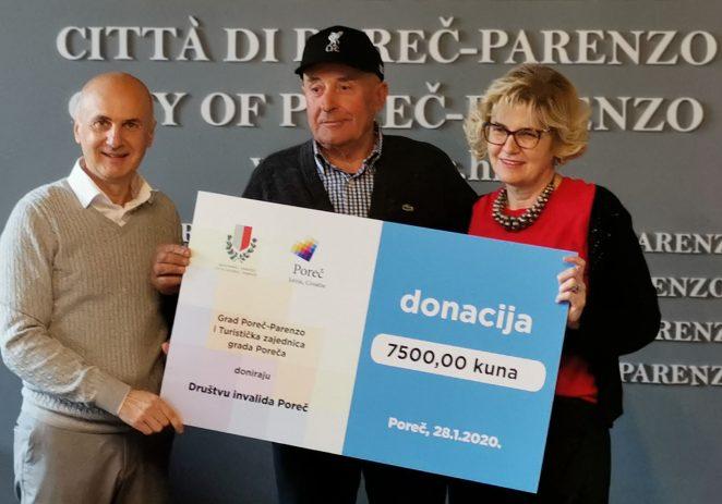 Turistička zajednica i Grad Poreč donirali Društvu invalida Poreč 7.500 Kn