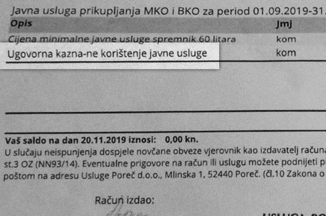 """Jesu li """"ugovorne kazne"""" od 500 Kn iz Usluge Poreč pravno valjane ili nisu ? Gradski vijećnik Maurizio Zennaro: """"Savjetujem čelnicima Usluge da se uozbilje"""""""
