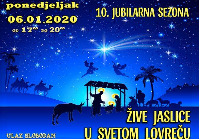 Završno izdanje 10. jubilarnih Živih jaslica u Sv. Lovreču u ponedjeljak, 6. siječnja
