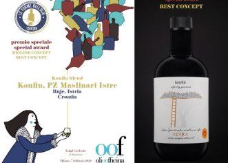 Ekstra djevičansko maslinovo ulje KONFIN dobitnik je prestižne nagrade na natjecanju Olio Officina u Milanu