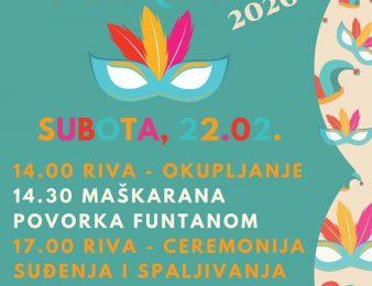 U subotu, 22. veljače Maškare u Funtani !