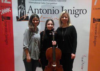 Hana Gubić, učenica violončela Umjetničke škole Poreč osvojila I. nagradu na regionalnom natjecanju u Zadru