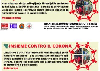 """Pokreće se velika humanitarna akcija u Istri """"Zajedno protiv korone"""""""