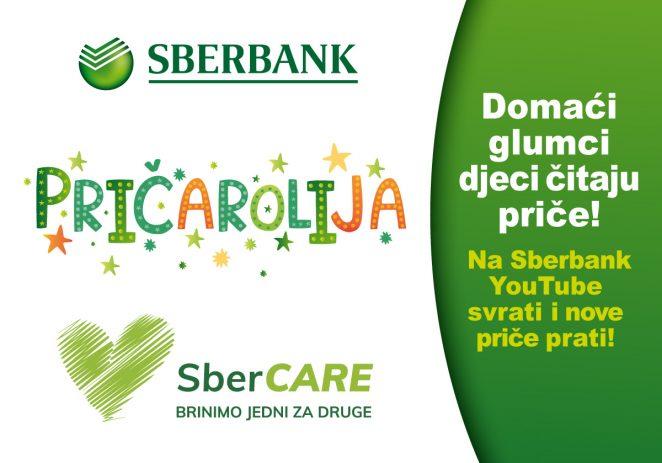 """""""SBERBANK PRIČAROLIJA"""" – domaći glumci u akciji! Potražite 12 dječjih priča tijekom mjeseca travnja na Sberbank YouTube kanalu"""