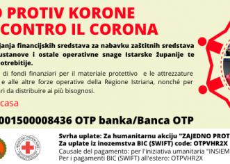 """U humanitarnoj akciji """"Zajedno protiv korone"""" Društva Crvenog križa Istarske županije prikupljeno 621 tisuću Kuna"""