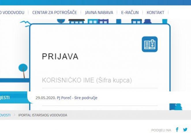 Od 1. svibnja u funkciji je iPortal Istarskog vodovoda