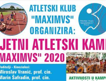 Atletski klub Maximvs Poreč i ove godine organizira ljetni kamp za djecu