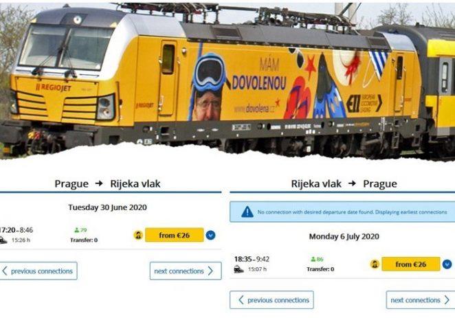 Česi poludjeli za novim vlakom do Rijeke, prodano već 8000 karata