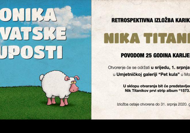 """U Motovunu od 1. do 31. srpnja retrospektivna izložba karikatura Nik Titanik: """"Kronika hrvatske gluposti"""""""