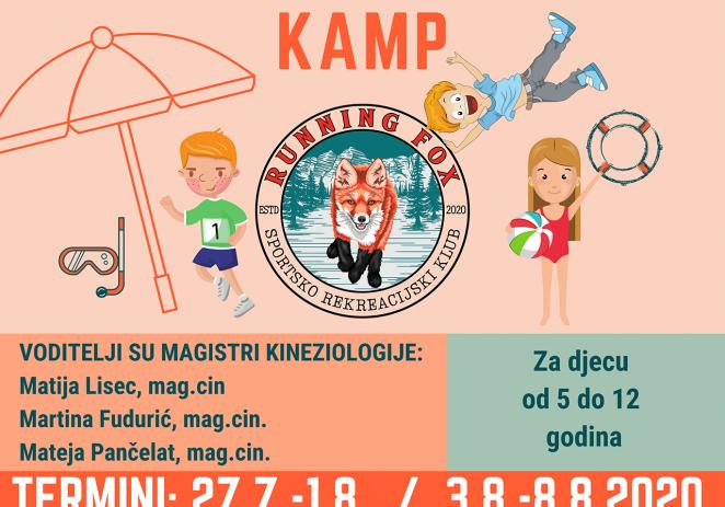 Sportsko rekreacijski klub Running Fox organizira ljetni sportski kamp – prijave do 8. srpnja !