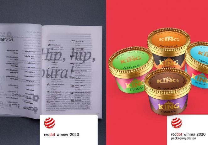 2 Red Dot nagrade za Studio Sonda: Za sladoled King u čašici te projekt EPK Rijeka 2020, Autorske Bure