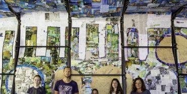 """Instalacija """"Od celuloze do pejzaža"""" – Kolaž s kolektivnim potpisom u foajeu porečkog kazališta od 7. srpnja"""