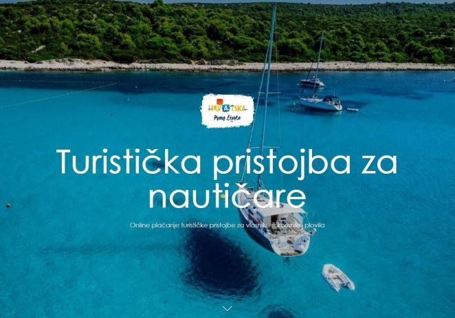Hrvatska turistička zajednica pokrenula portal za online plaćanje  turističke pristojbe u nautici