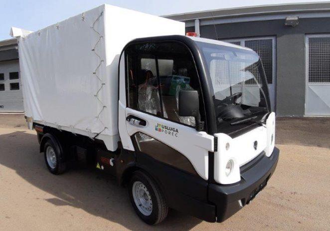 Usluga Poreč osigurala električno vozilo za dostavu robe u starogradsku jezgru Poreča