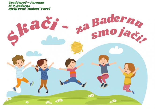 """U utorak, 25. kolovoza predstavljanje projekta """"Skači – za Badernu smo jači !"""""""