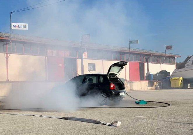Porečki vatrogasci danas ugasili požar na automobilu – intervenirali u manje od 5 minuta !