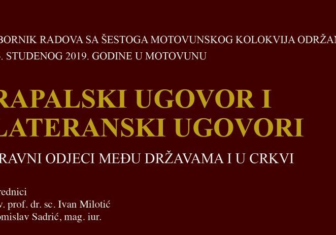 Obilježava se 100. obljetnica potpisivanja Rapalskog ugovora, ugovora između Kraljevine Srba, Hrvata i Slovenaca i Kraljevine Italije