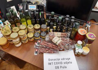 Udruge Istarska Web Tržnica donirala COVID odjelu u Puli