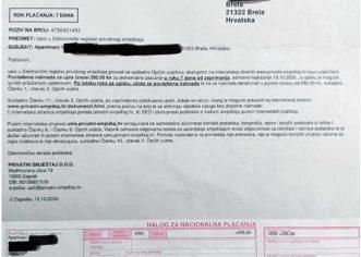 UPOZORENJE IZNAJMLJIVAČIMA: Elektronički registar privatnog smještaja NE POSTOJI !