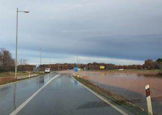 Kiša natopila Poreštinu: Sve službe na terenu, na nekim prometnicama privremena regulacija prometa