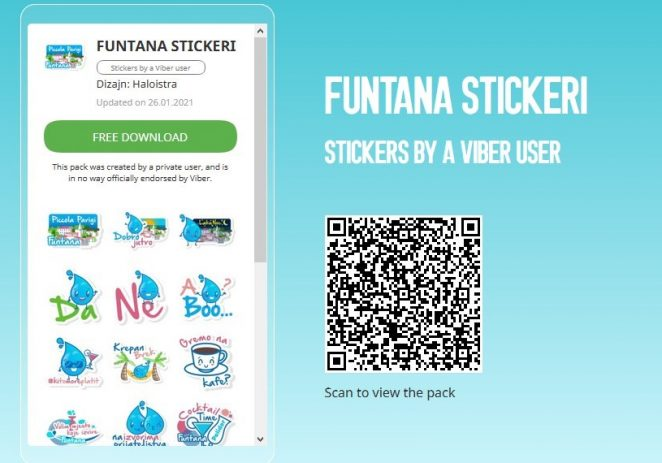 I Funtana objavila Viber naljepnice (sticker-e)