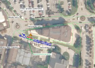 """U ponedjeljak počinje ugradnja podzemnih spremnika komunalng otpada u Partizanskoj ulici (kod """"roza zgrade"""")"""