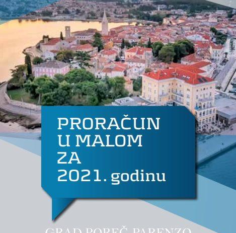 """Grad Poreč i ove je godine objavio vodič kroz gradski proračun """"Proračun u malom"""""""